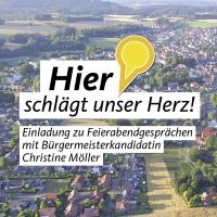 """Einladung zu """"Feierabendgesprächen"""" mit Bürgermeisterkandidatin Christine Möller"""